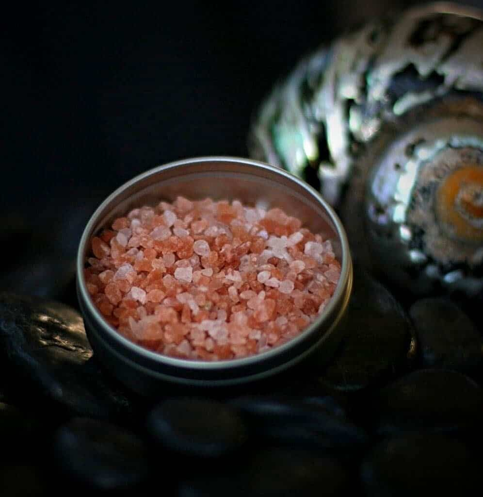 pink salt in the jar